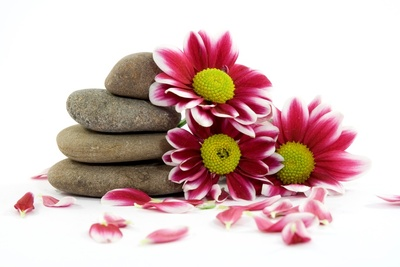 flowers-stones